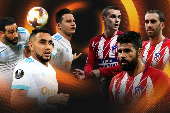 Marseille vs Atletico Madrid chung kết Europa League