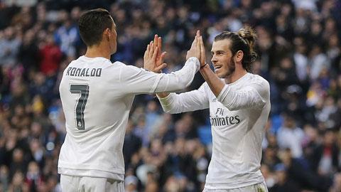 Ronaldo 2 bàn, Benzema 3 bàn, Bale lập Poker Real thắng hủy diệt 10-2