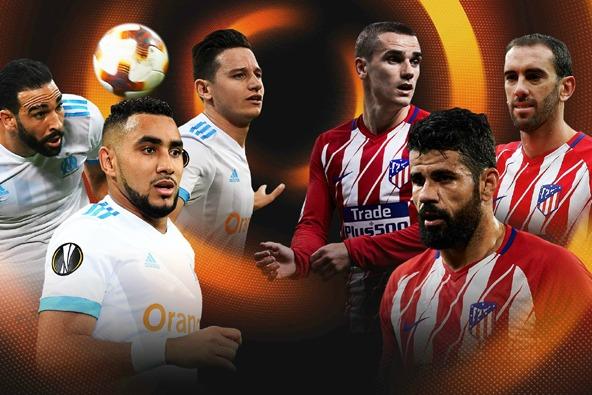 Marseille vs Atletico Madrid chung kết Europa League